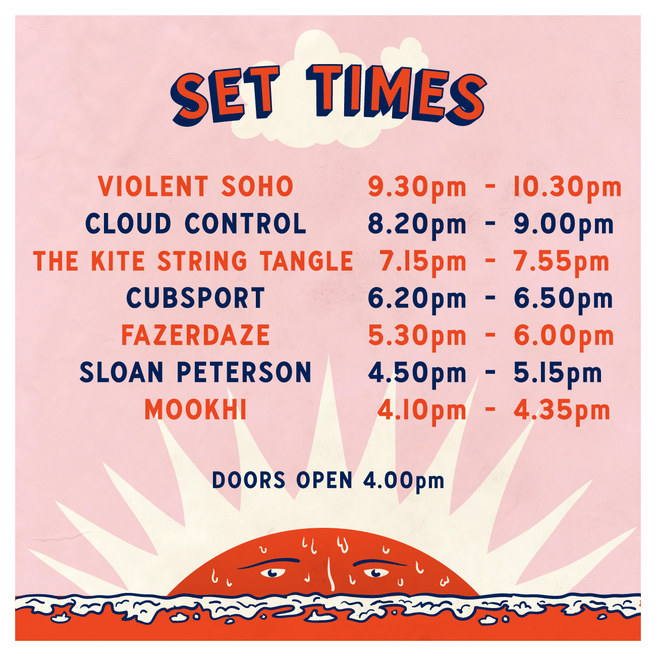 The Last Frost 2017 Set Times