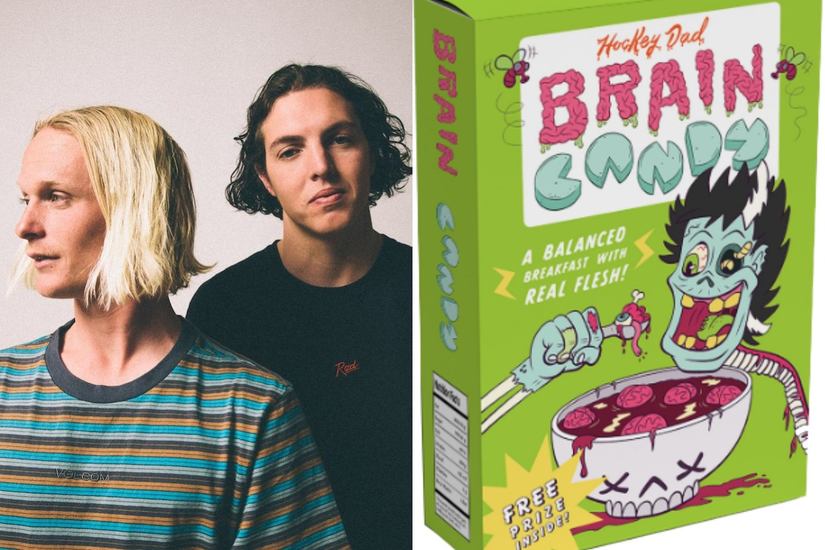 Hockey Dad Announce Brain Candy Cereal Boxes Drive In Show Livestream