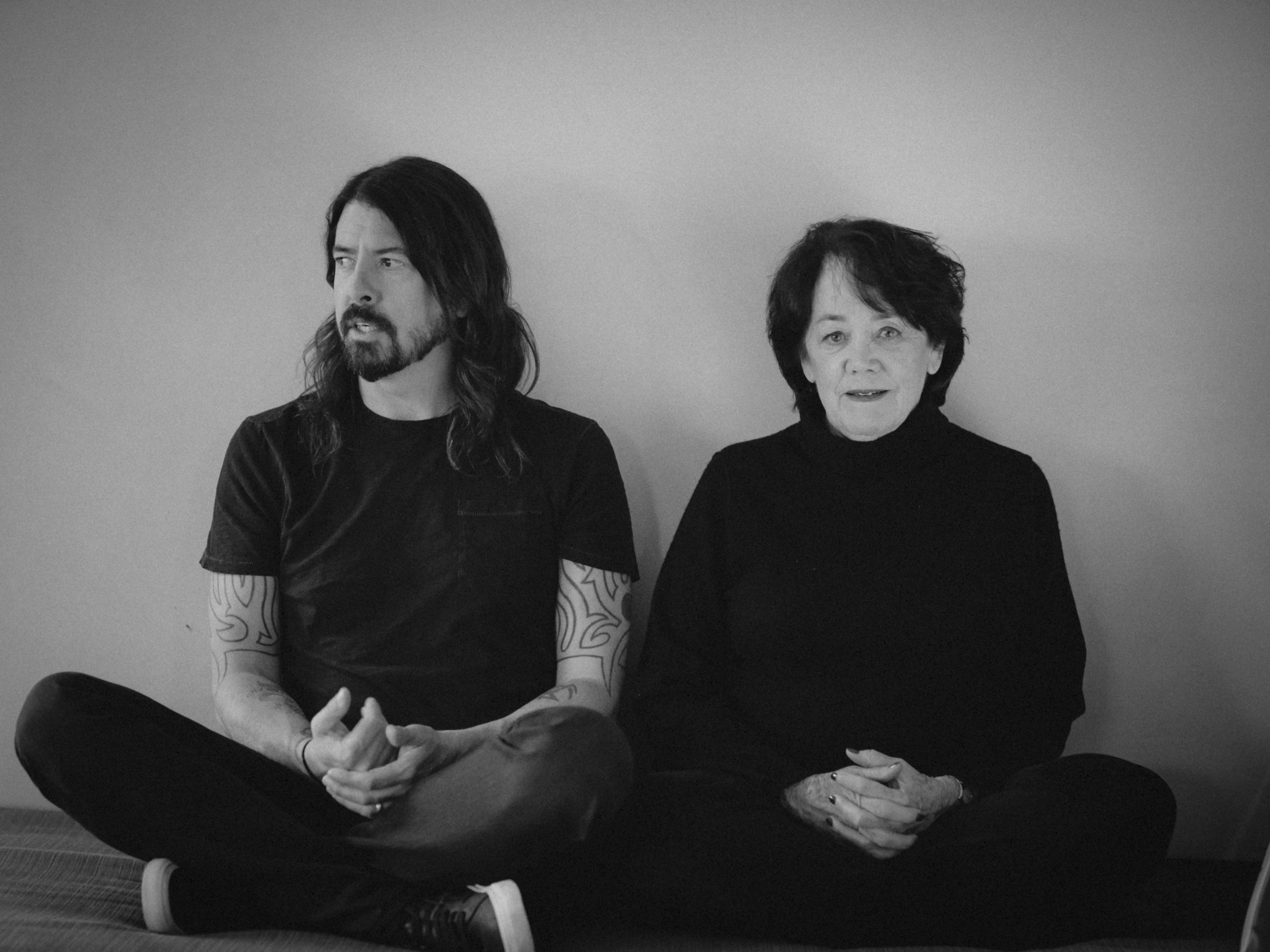 Dave Grohl with his mother Virginia.