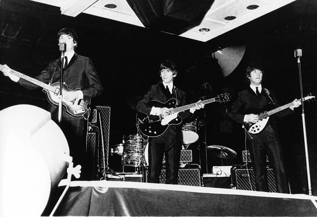 The Beatles performing in Australia circa 1964