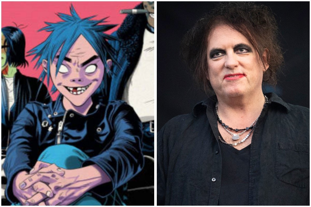 Gorillaz tease forthcoming collaboration with The Cure's Robert Smith