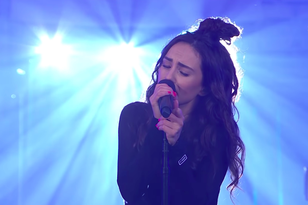 Amy Shark performs at the NRL Grand Final