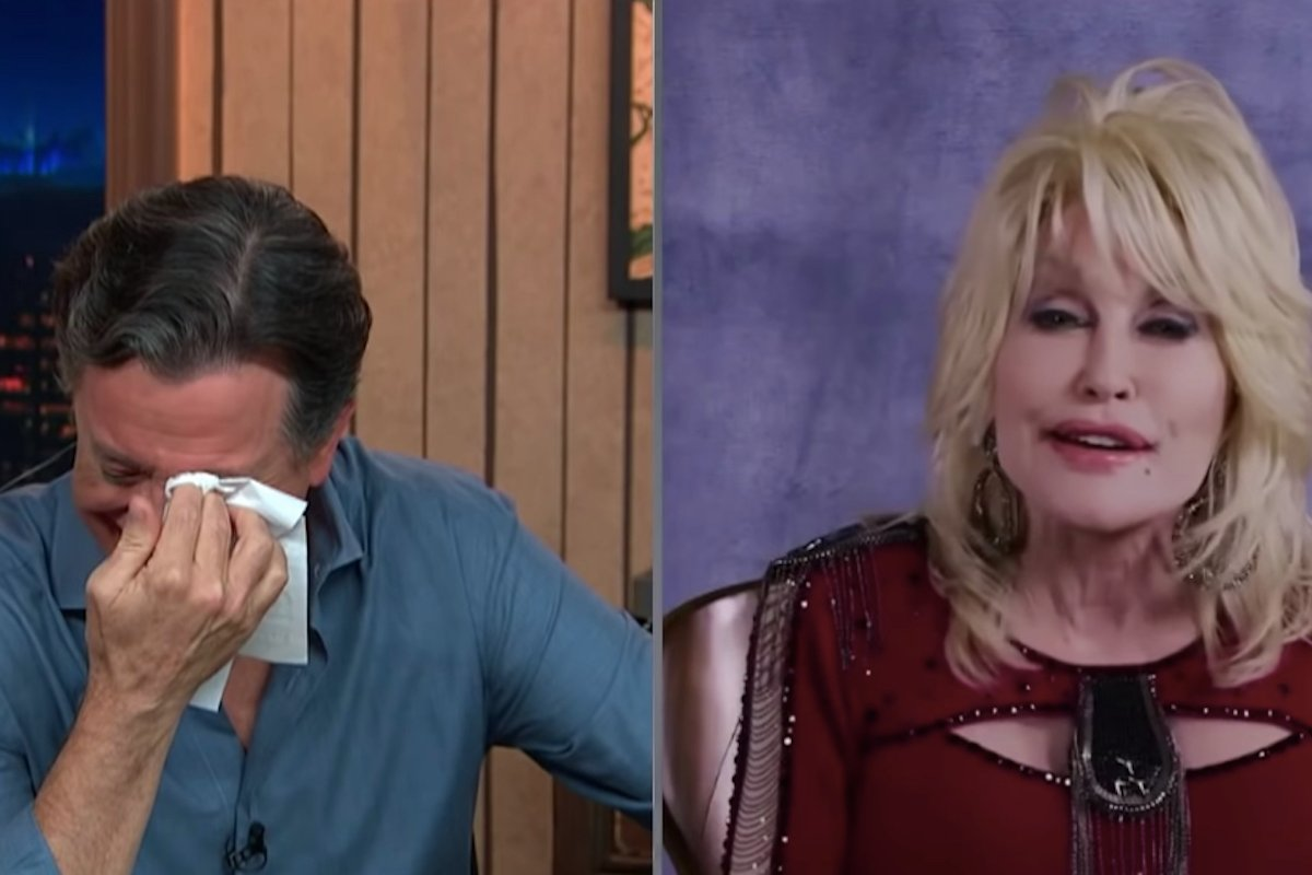 Stephen Colbert Moved To TEARS During Dolly Parton Interview