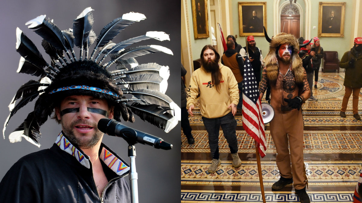 Jamiroquai returns to distance himself from lookalike Capitol riot leader