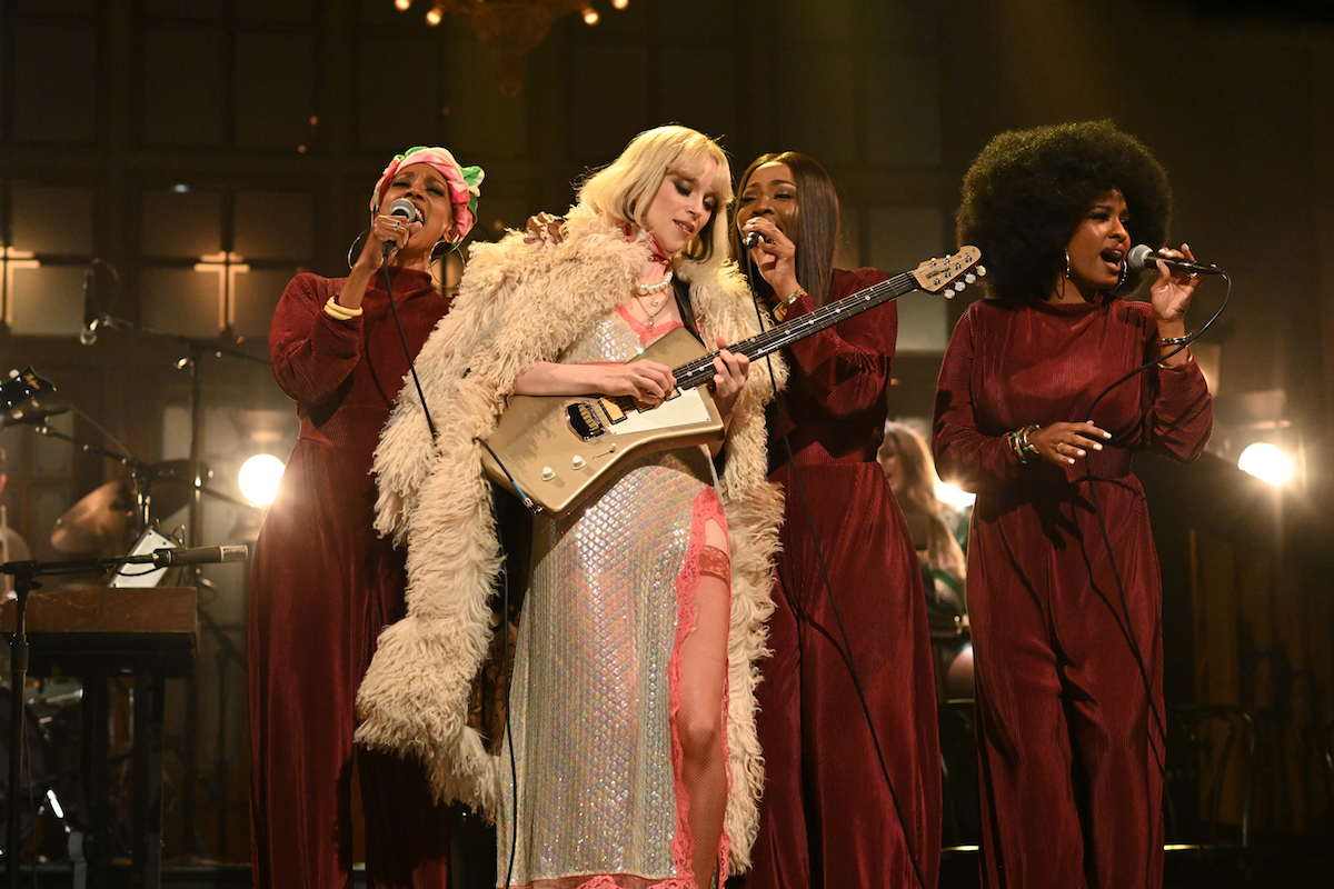 St. Vincent performs on SNL