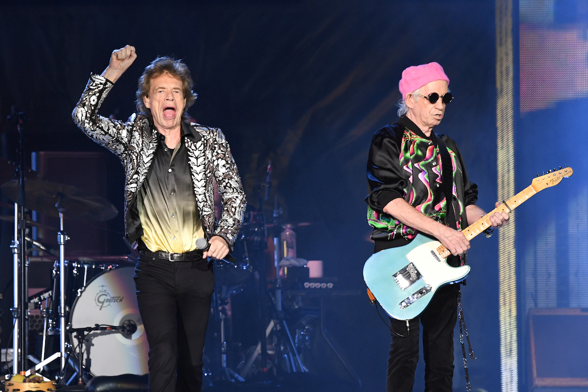 The Rolling Stones performing in 2021