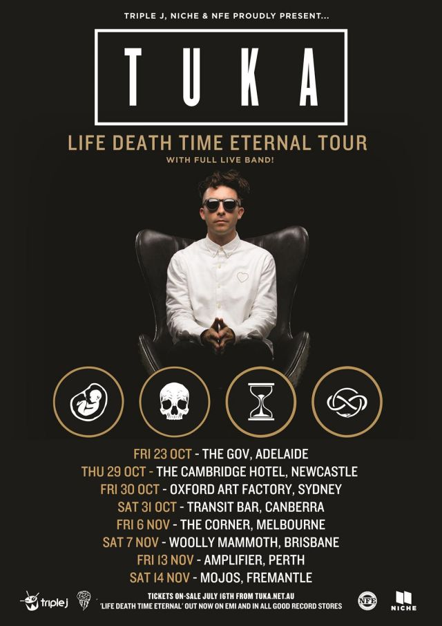 tuka life death time eternal tour poster supplied