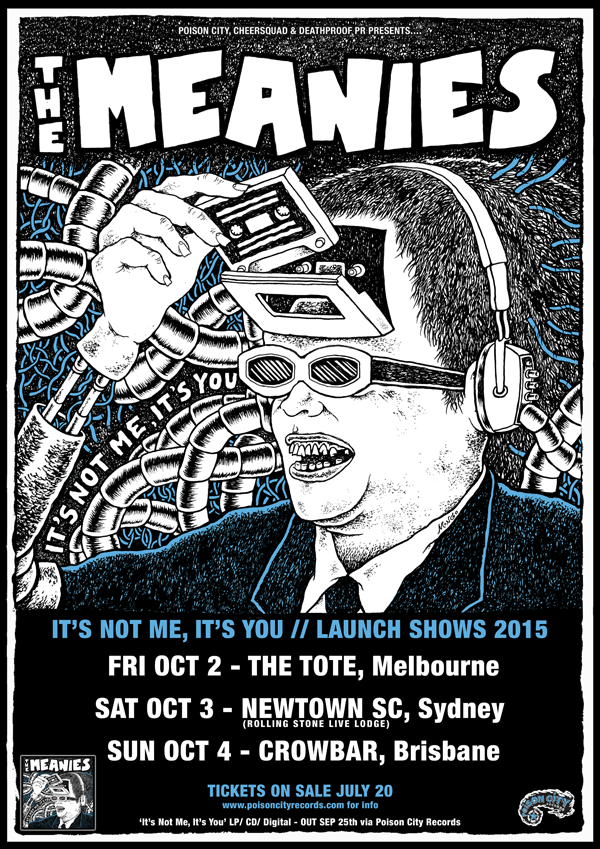 the meanies 2015 tour poster supplied