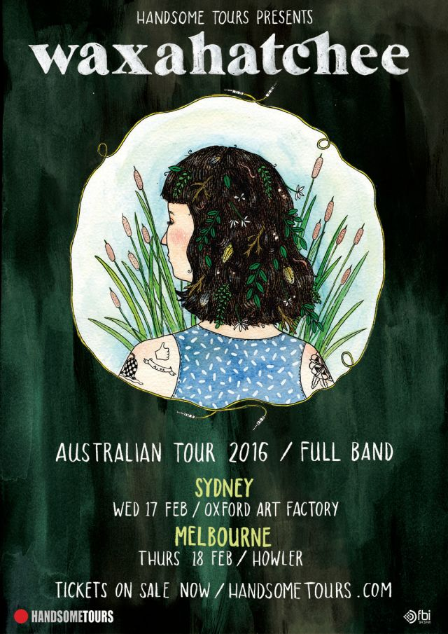 waxahatchee 2016 tour poster supplied