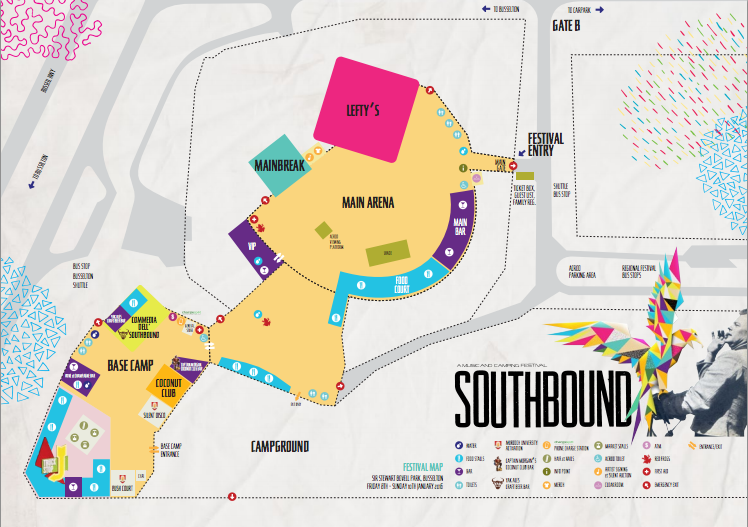 southbound map