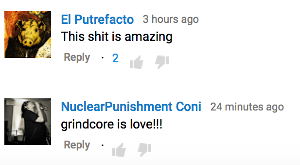 the grindmother any cost youtube comments copy