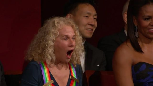 carole king at Kennedy Center Honors 2015 source youtube user saveyouckufer