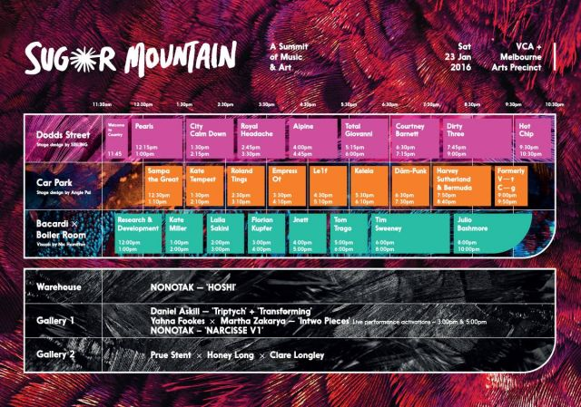 sugar mountain 2016 timetable updated version