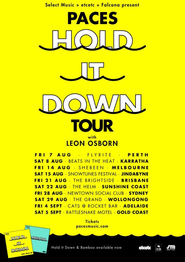 paces hold it down tour poster 2015 supplied