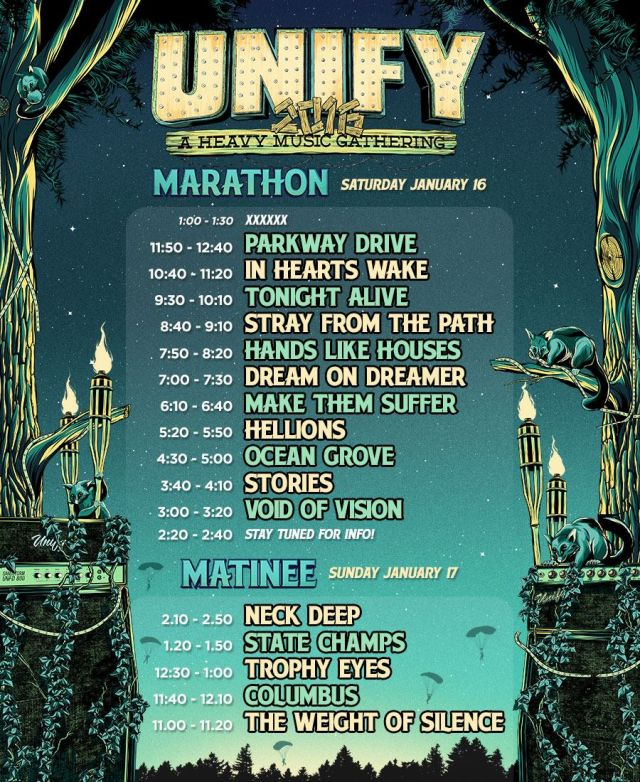 unify gathering 2016 timetable source facebook