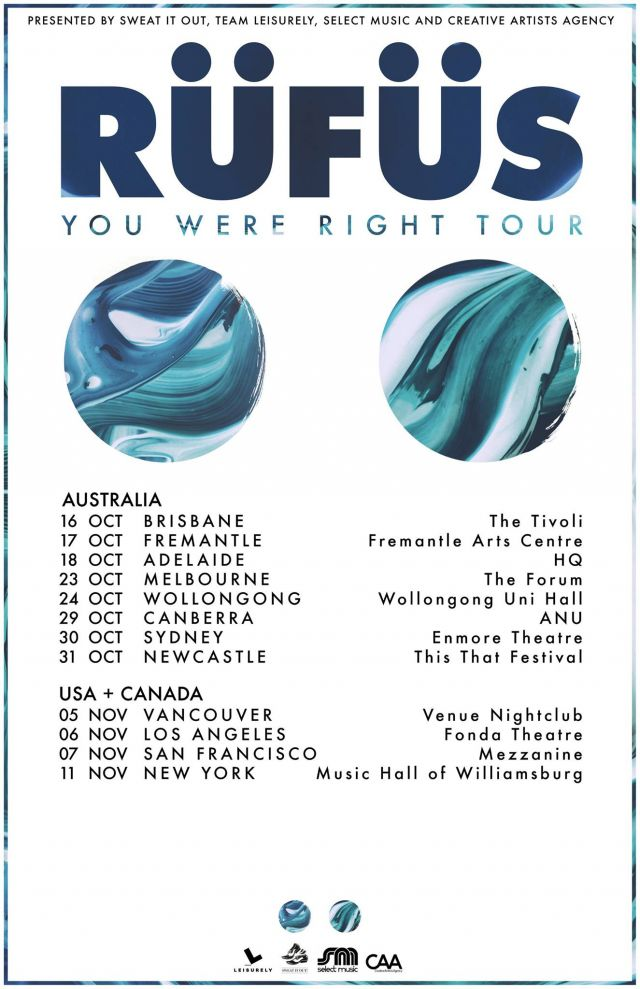 rufus you were right tour poster 2015
