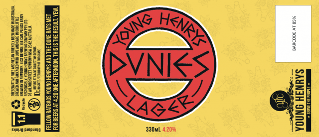 Dunies Lager Label supplied