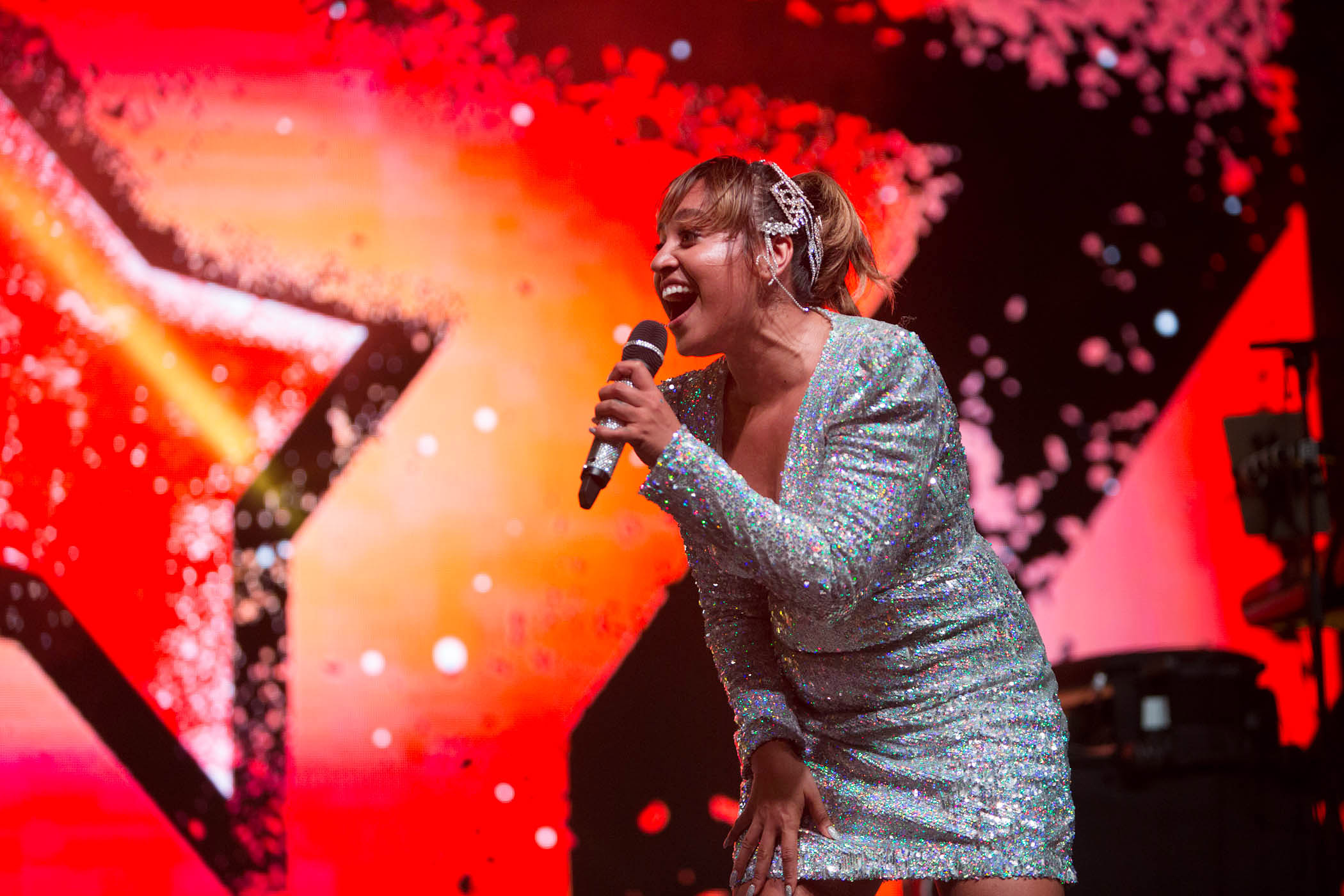 Jessica Mauboy performing at the National Indigenous Music Awards (NIMA) 2019 in Darwin