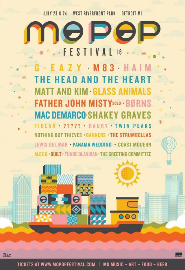 Mo Pop Festival 2016 lineup poster source official facebook