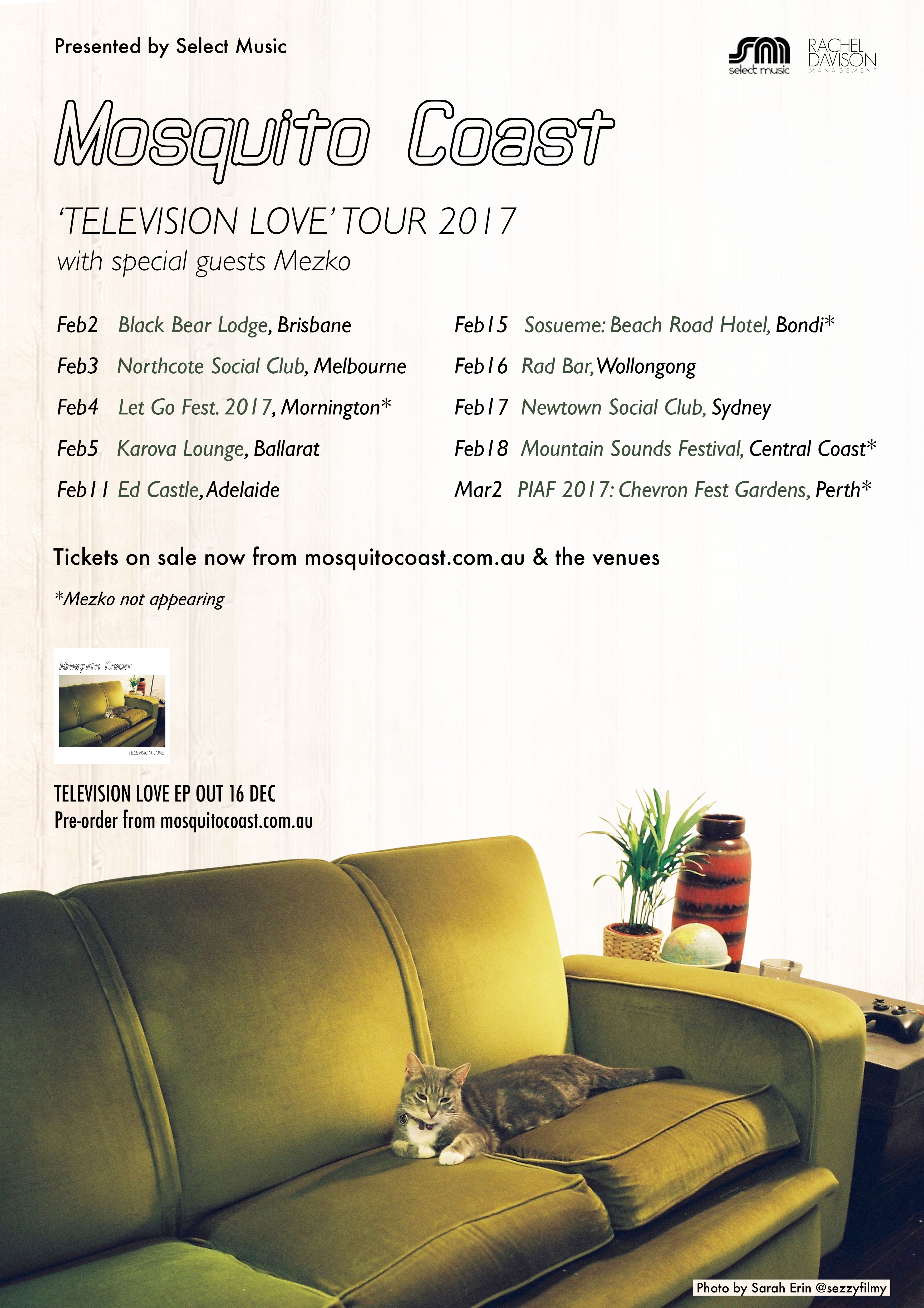 Mosquito Coast_Television Love tour_poster