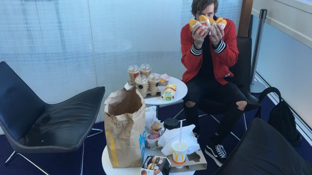 Sam with Maccas