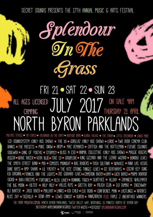 alleged leaked splendour in the grass 2017 lineup poster