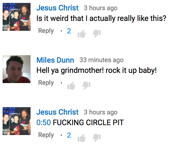 the grindmother any cost youtube comments