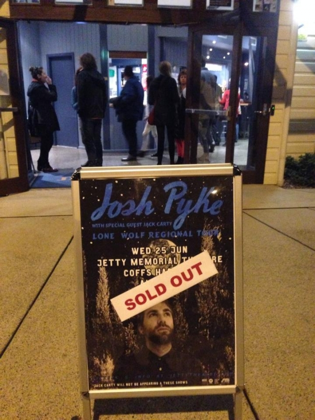 josh pyke sold out show