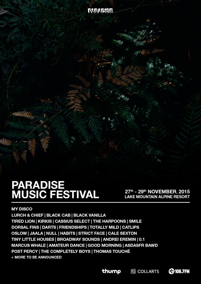 paradise music festival 2015 poster source facebook
