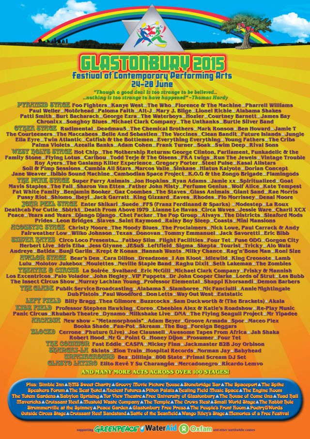 glastonbury festival 2015 poster source official website