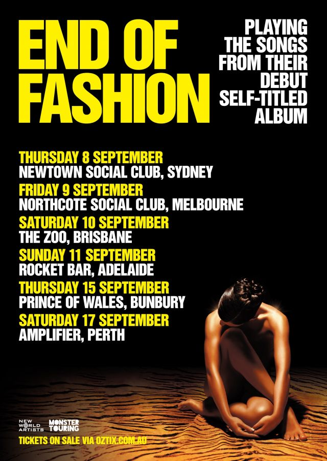 end of fashion 2016 reunion tour poster supplied