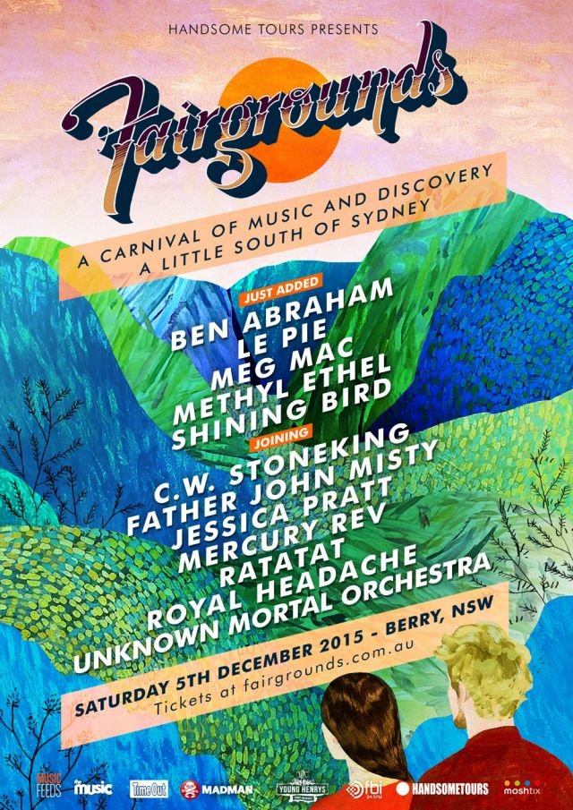 fairgrounds festival 2015 second lineup poster supplied