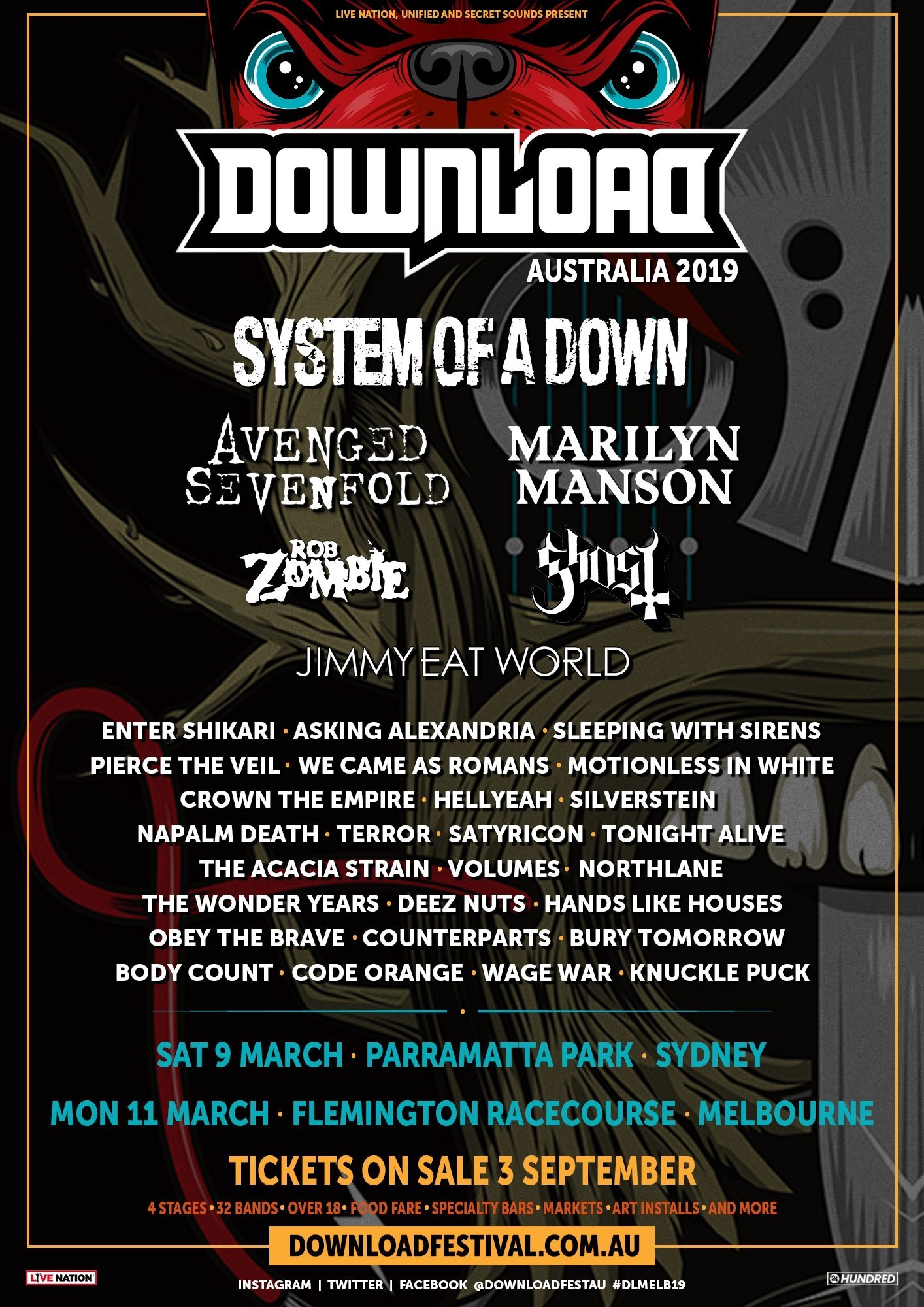 Yep, That Download Festival Australia 2019 Lineup Poster Is Fake - Music  Feeds