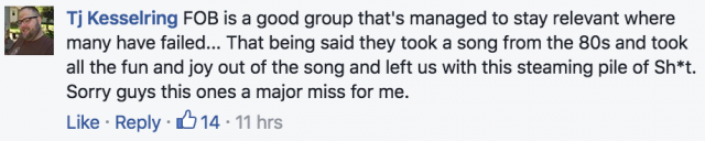 fall out boy ghostbusters theme 2016 facebook comment 1