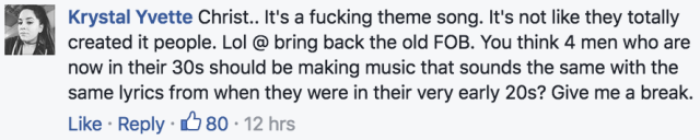 fall out boy ghostbusters theme 2016 facebook comment 3