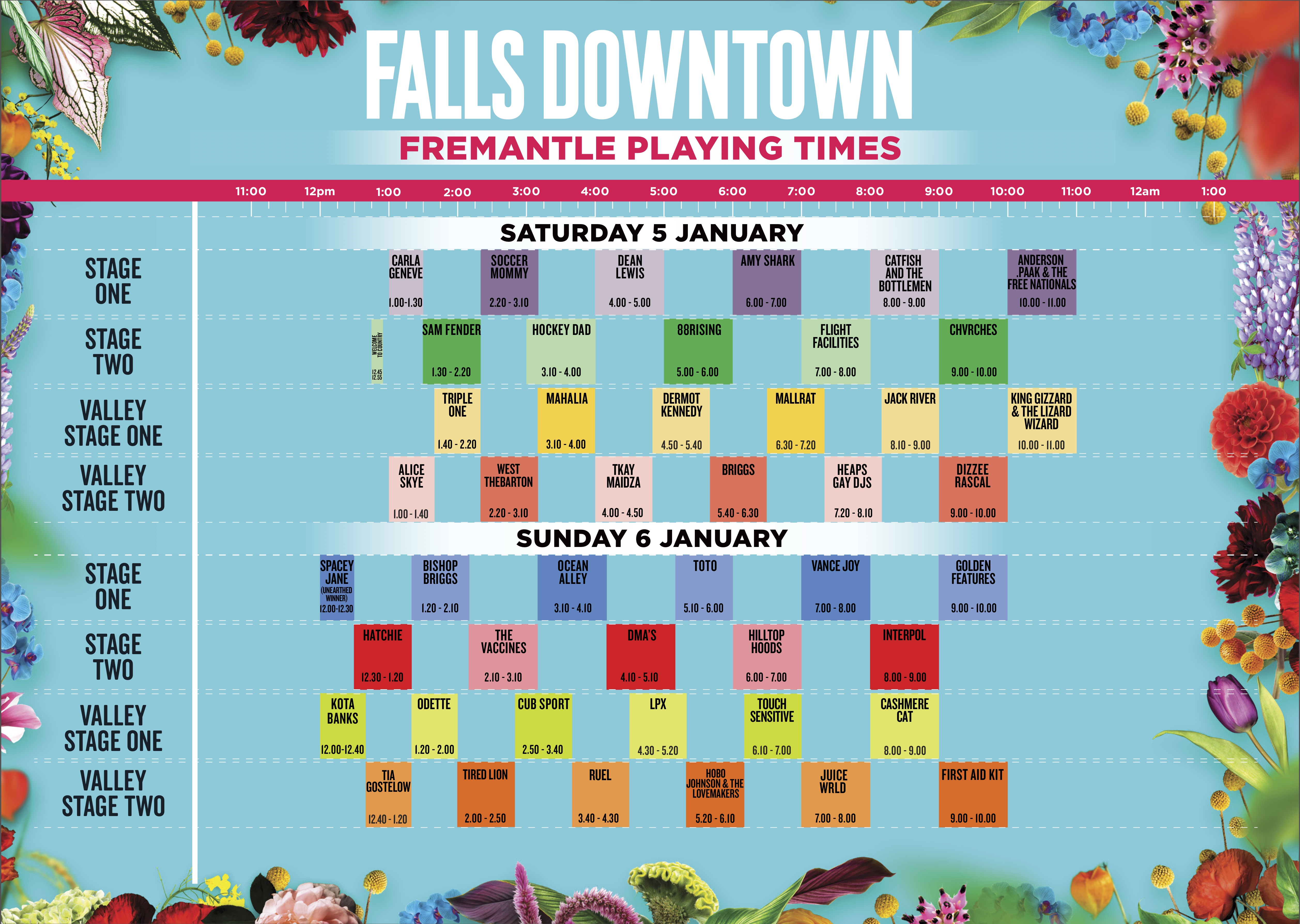 Falls Festival 2018 2019 Set Times Announced Utter Buzz 1990 Nissan 300zx Wiring Diagram Fremantle Click To Expand
