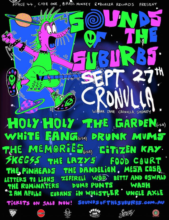 sounds of the suburbs 2015 poster supplied