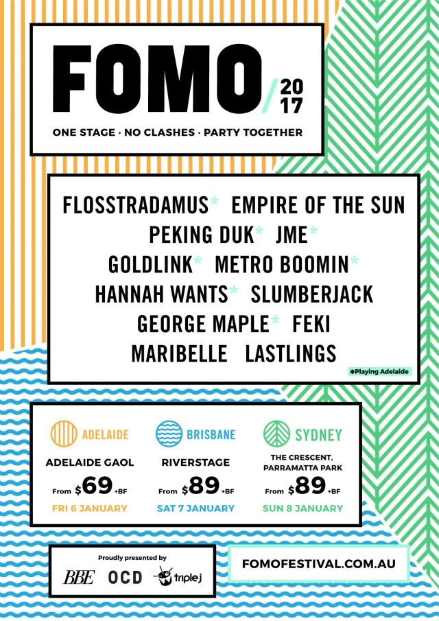 fomo 2017 lineup poster supplied