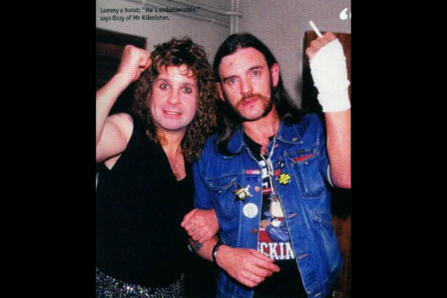 7. Lemmy Hangs With His BFF