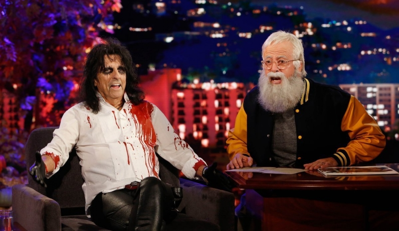 Dave Grohl as David Letterman... and Alice Cooper as himself