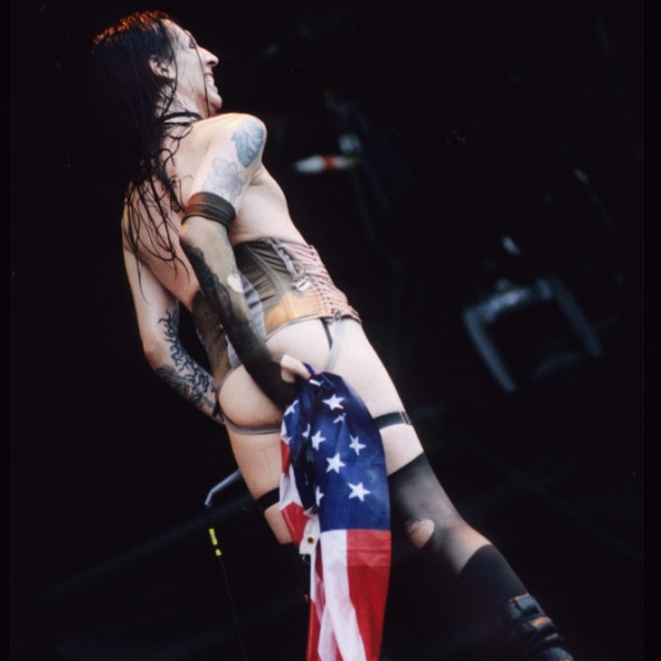 Whether it's wiping his arse with the American flag...