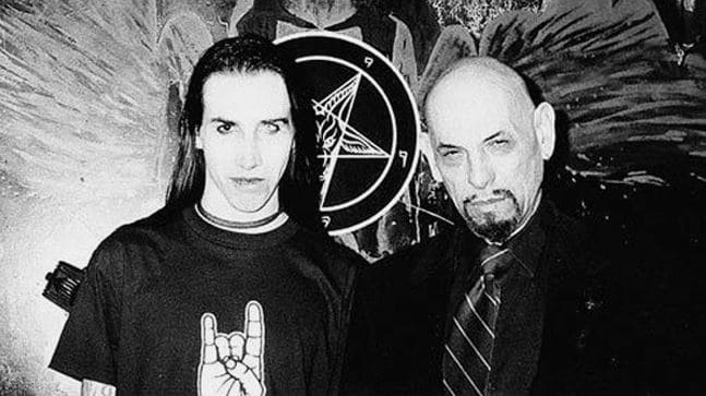 Manson could go from hailing satan one minute...