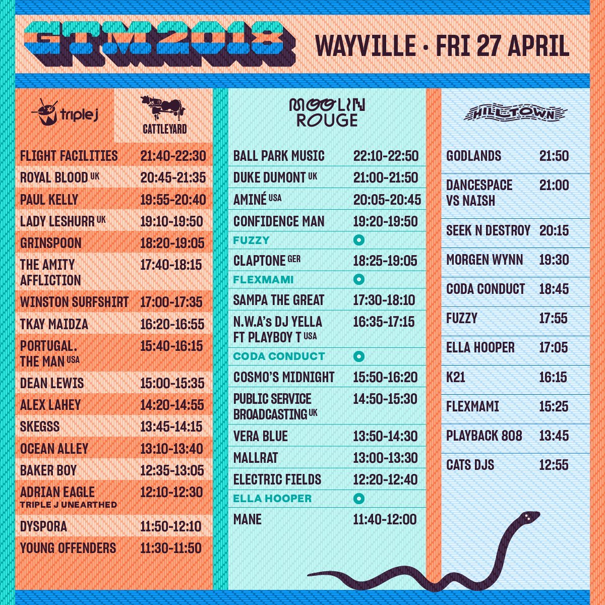 Groovin The Moo 2018 Set Times Announced - Music Feeds