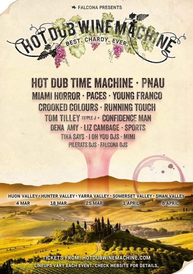 hot dub wine machine poster facebook