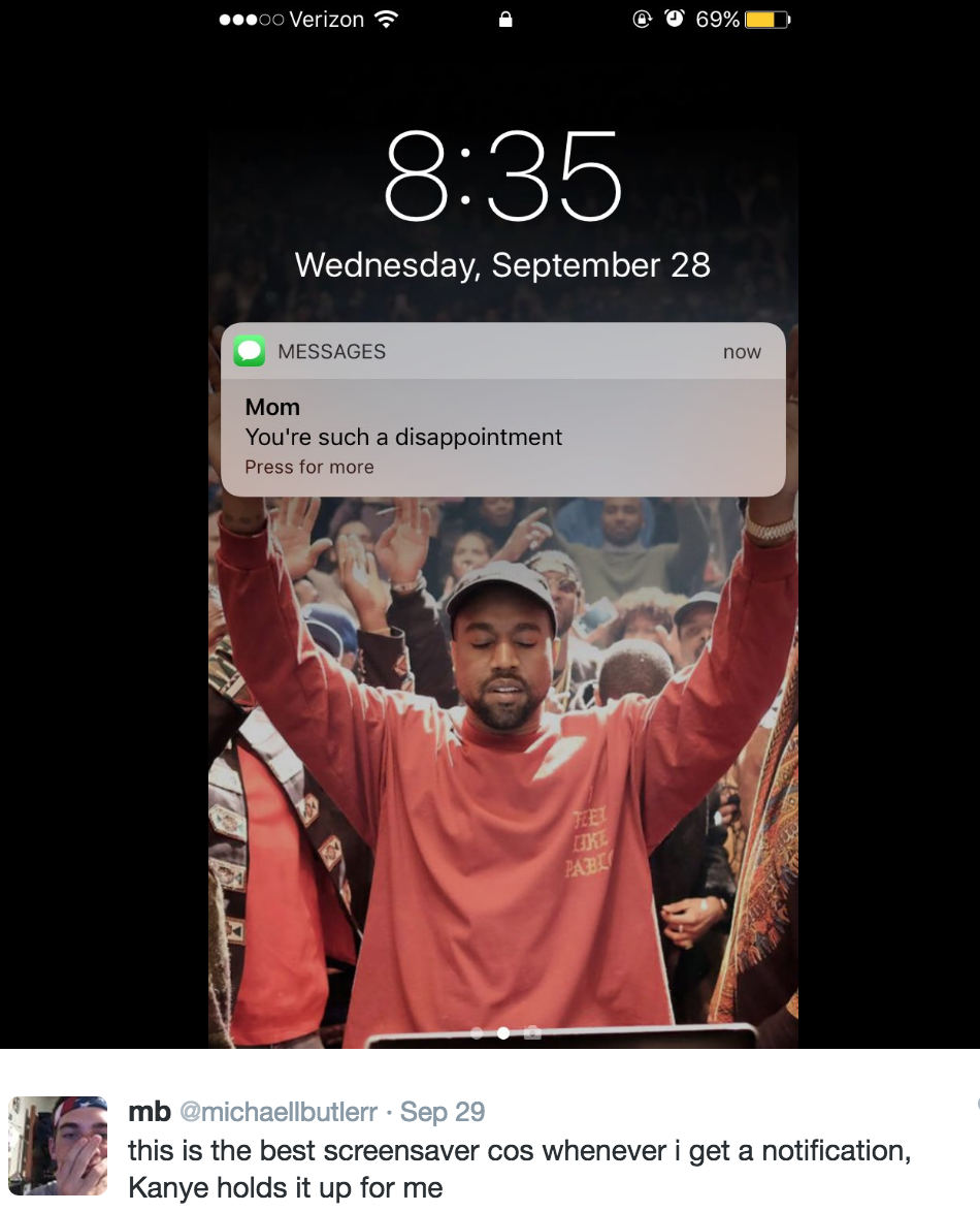 Dudes Tweet Goes Viral Convinces Kanye West Fans To Change Their Wallpapers