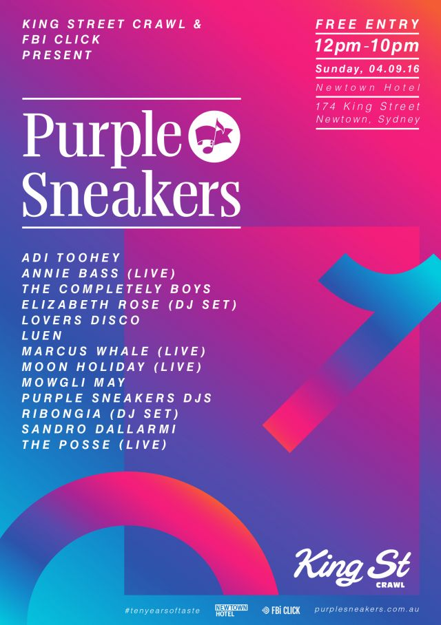 purple sneakers king street crawl 2016 poster supplied