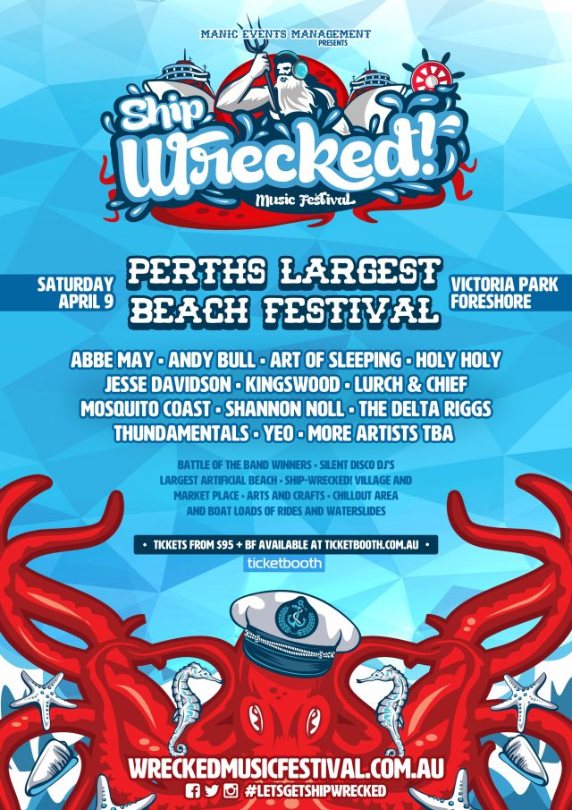 ship-wrecked music festival 2016 poster supplied