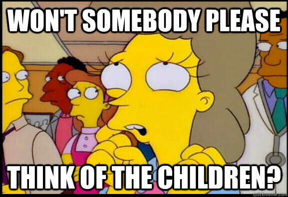 simpsons think of the children