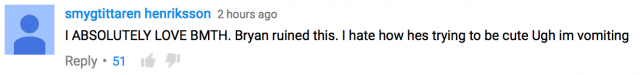 social repose bring me the horizon acapella youtube comment negative 2