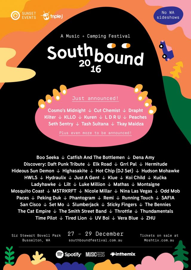 southbound new acts poster September 2016 supplied